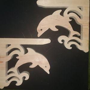 Dolphin Corbels Set Of 2 Shelf Brackets